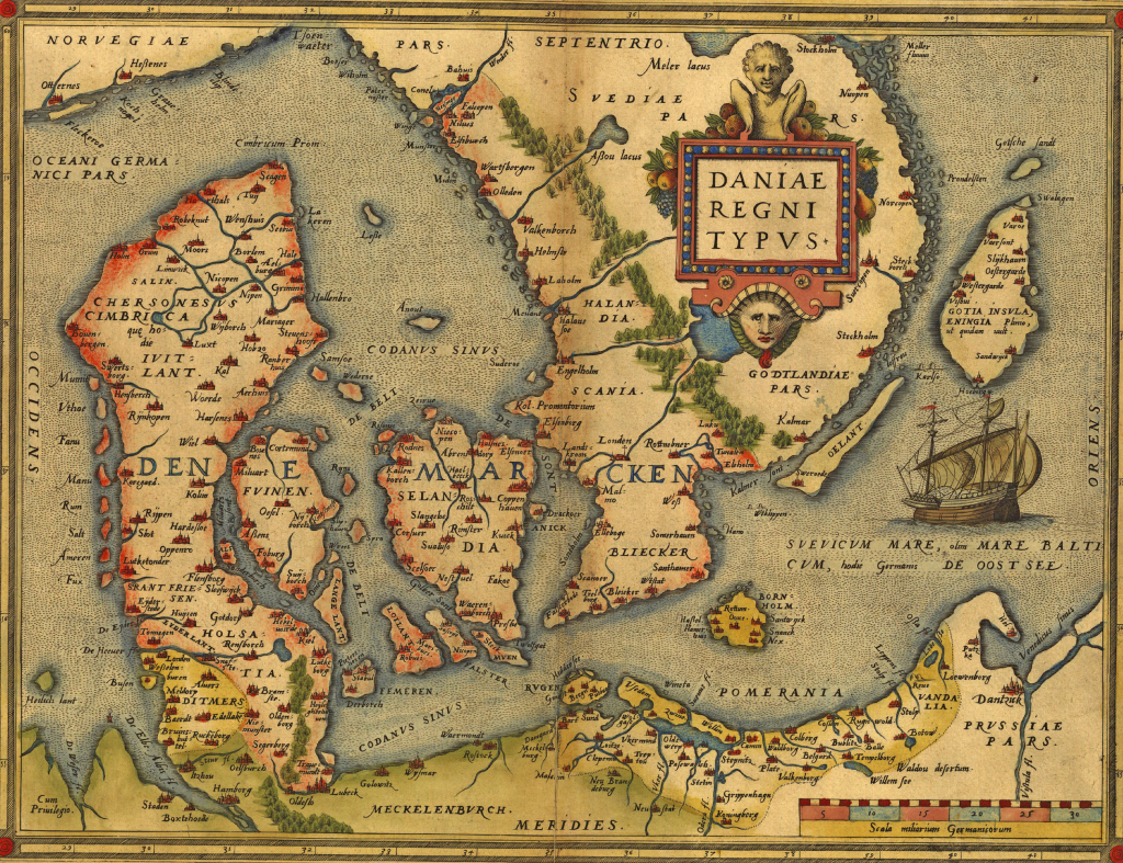 Antique Map of Denmark